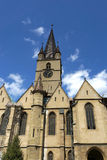 Evanghelical kyrka Sibiu Rumänien Arkivfoton