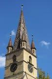 Evanghelical kyrka Sibiu Rumänien Fotografering för Bildbyråer