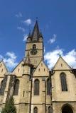 Evanghelicalkerk Sibiu Roemenië Stock Foto's