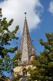 Evanghelicalkerk Sibiu Roemenië - toren Royalty-vrije Stock Afbeelding