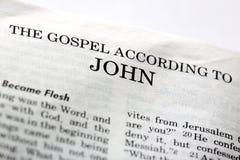evangile John photo stock