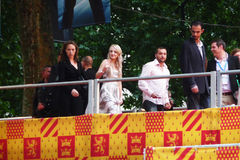 Evanna Lynch en el primero ministro el 7 de julio de Harry Potter Imagenes de archivo