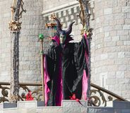 Evanora η μάγισσα στη σκηνή στον κόσμο Ορλάντο Φλώριδα της Disney Στοκ Εικόνες