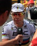 велосипедист evans cadel Стоковые Изображения RF