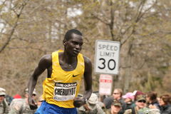 Evans  Cheruiyot races up Heartbreak Hill. Boston, Ma 04 20 2009 Evans  Cheruiyot races up Heartbreak Hill during the Boston Marathon finishing 5th in men Royalty Free Stock Photography