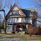 Evanston-Englisch Tudor Stockbild