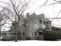Evanston Stone Mansion Stock Photography