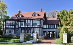Evanston Tudor dwór Obrazy Stock