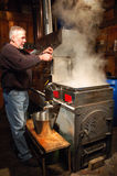 The Evaporating Process in the Making of Maple Syrup Royalty Free Stock Photography