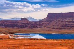 Evaporation Ponds near Potash Road in Moab Utah Stock Photos