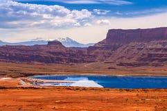 Evaporation Ponds near Potash Road in Moab Utah Stock Photos