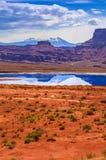 Evaporation Ponds near Potash Road in Moab Utah royalty free stock photo