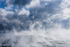 Evaporation at Sargasso sea stock photography