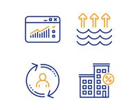 Evaporation, Web Traffic And User Info Icons Set  Loan House