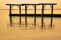 Evaporations. The Dead Sea near to medical beach Ein-Bokek royalty free stock photos