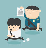 Evasion tax. Cartoons concepts business run evasion tax Royalty Free Stock Photos