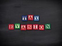 Evasione fiscale Fotografia Stock