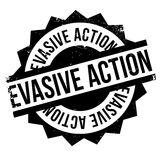 Evasive Action rubber stamp Stock Image