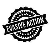 Evasive Action rubber stamp. Grunge design with dust scratches. Effects can be easily removed for a clean, crisp look. Color is easily changed Royalty Free Stock Image