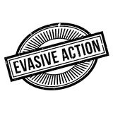 Evasive Action rubber stamp. Grunge design with dust scratches. Effects can be easily removed for a clean, crisp look. Color is easily changed Royalty Free Stock Images