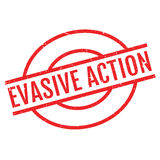 Evasive Action rubber stamp. Grunge design with dust scratches. Effects can be easily removed for a clean, crisp look. Color is easily changed Stock Images
