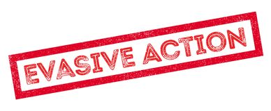 Evasive Action rubber stamp Stock Photography