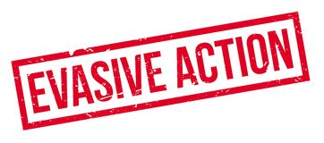 Evasive Action rubber stamp Stock Images