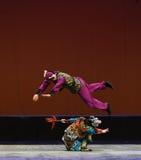 """Evasive maneuvers-Night fighting-Children's Beijing Opera""""Yue teenager"""" Stock Photo"""
