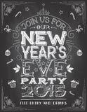Eve Новые Годы приглашения партии на доске Стоковая Фотография RF