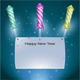 Eve Background des neuen Jahres Lizenzfreies Stockbild