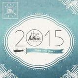 Eve Card d'annata del nuovo anno Immagine Stock
