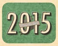 Eve Card d'annata del nuovo anno Fotografie Stock Libere da Diritti