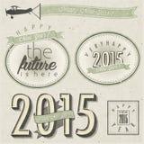 Eve Card van het nieuwjaar Royalty-vrije Stock Afbeelding