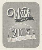 Eve Card van het uitstekende Nieuwjaar Royalty-vrije Stock Afbeelding