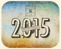 Eve Card van het uitstekende Nieuwjaar Stock Fotografie