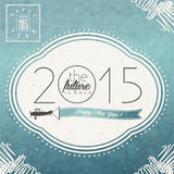 Eve Card van het uitstekende Nieuwjaar Stock Afbeelding