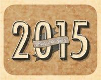 Eve Card van het uitstekende Nieuwjaar Royalty-vrije Stock Foto