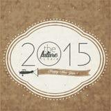 Eve Card van het uitstekende Nieuwjaar Stock Foto