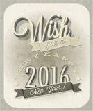 Eve Card van het uitstekende Nieuwjaar Stock Afbeeldingen