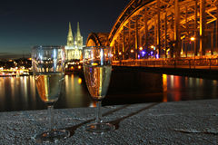 Eve Cologne Germany de nouvelle année Photos libres de droits
