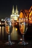 Eve Cologne Germany de nouvelle année Photographie stock libre de droits