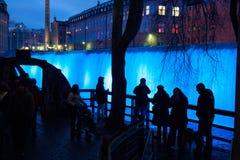 ` Eve del Año Nuevo en Norrkoping, Suecia Fotografía de archivo