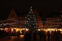 ` Eve del Año Nuevo en Tallinn Fotografía de archivo