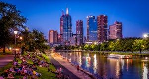 Eve del verano de Melbourne fotos de archivo
