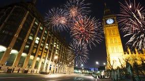 Eve Fireworks del nuovo anno, 2015 Immagine Stock Libera da Diritti