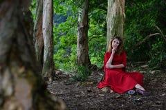 Eve in The Garden of Eden Stock Images