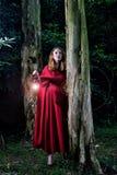 Eve in The Garden of Eden. Holding light Stock Photos