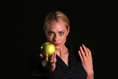 Eve hands YOU an Apple Royalty Free Stock Images