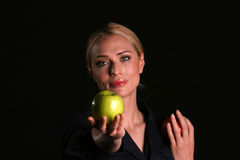 Eve hands YOU an Apple Stock Photo