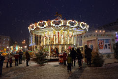 On the eve of  2016 New Year in Kiev Stock Images
